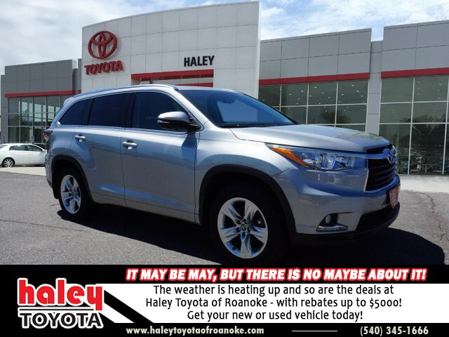 Certified Pre Owned 2016 Toyota Highlander Silver Limited V6