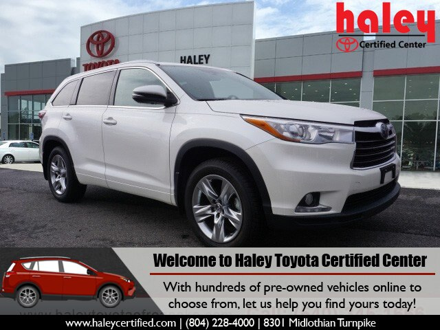 Certified Pre Owned 2016 Toyota Highlander Limited V6