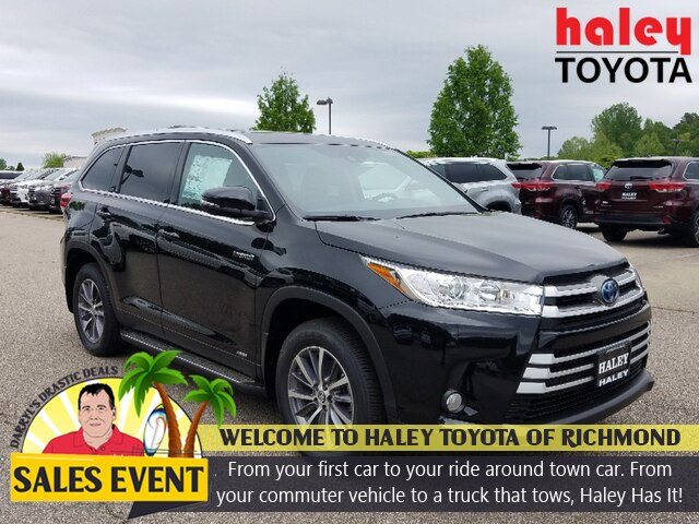 New 2019 Toyota Highlander Hybrid XLE V6 4 Door AWD